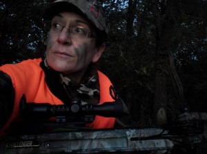 Hunting early morning in Kansas with my Parker Bows Challenger crossbow, watching dawn ascend.