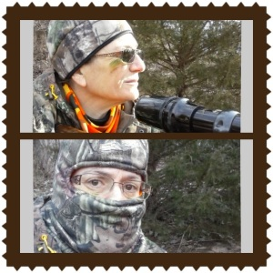 Started off my hunt wearing my new She brand head cover and pants (from Bass Pro Shops), but the temperature dropped & I chose to exchange style for my balaclava.