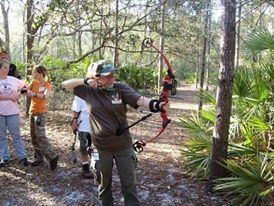 Action Archery at Camp le Noche 03/07/09. Using a Knight & Hale Steady Ready while shooting a Genesis compound bow.