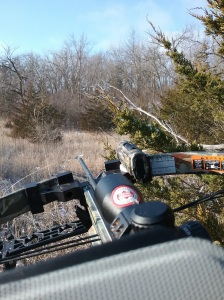 Hunting with my Parker Challenger crosbow, with my Midland video camera attached.